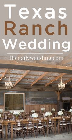Look at that reception! So elegantly rustic! View the full wedding here: http://thedailywedding.com/2015/11/29/texas-ranch-wedding-vanessa-matthew/
