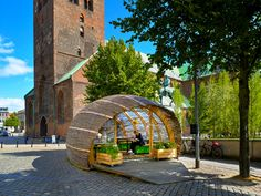 Tiny woven hut invites Danish public to experience urban gardening. Danish architect, Steffen Impgaard has created The Green Embassy, a wooden garden hut open to the public to encourage the thrill of urban gardening.