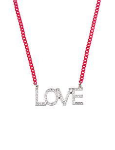 Love Rhinestone Necklace | Necklaces | Jewelry | Shop Justice