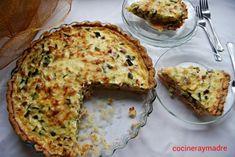 Tarta de calabacín, beicon y queso. - Cocinera y Madre