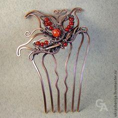 """Заколки ручной работы. Ярмарка Мастеров - ручная работа Гребень для волос """"Подарок любимой"""". Handmade."""