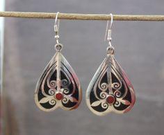 Dharmashop.com - Tibetan Onyx Inlay Earrings , $32.00 (http://www.dharmashop.com/tibetan-onyx-inlay-earrings/)