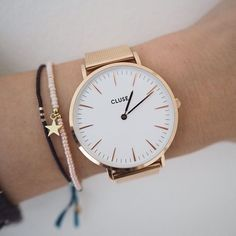 Because when time is illuminated, the whole world sparkles and shines. Dainty Jewelry, Jewelry Accessories, Fashion Accessories, Stylish Watches, Bracelet Watch, Jewelery, Jewelry Watches, Rose Gold, Casual Outfits