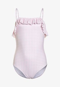 Polo Ralph Lauren GINGHAM SWIMWEAR - Maillot de bain - pink/multicolor - ZALANDO.CH Polo Ralph Lauren, Ava, Gingham, Bikinis, Swimwear, Pink, Retro, Birthday, Fashion