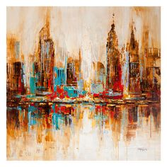 Found it at Wayfair - City Shadows Painting Print on Canvas
