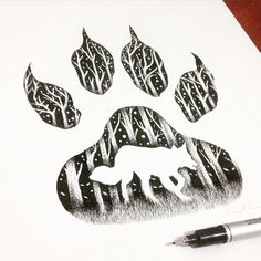 Thiago Bianchini is a Brazilian illustrator who creates surrealistic drawings in pointillism and double exposure - Top 500 Best Tattoo Ideas And Designs For Men and Women Wolf Tattoos, Body Art Tattoos, Tatoos, Animal Drawings, Art Drawings, Realistic Drawings, Et Tattoo, Double Exposition, Stippling Art