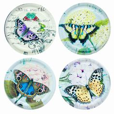 Beautiful Butterfly Drink Coasters Butterfly Gifts, Butterfly Art, Bottle Cap Images, Bottle Caps, Bug Images, Soap Packing, Cool Coasters, Decoupage Printables, Tile Crafts