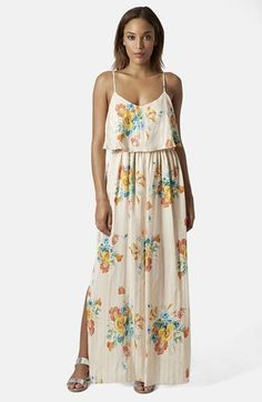 Topshop Floral Maxi Dress available at #Nordstrom