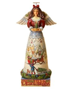 Jim Shore Collectible Figurine, Angel Blessed Holidays - Holiday Lane - Macy's