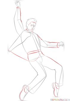 how to draw elvis presley step by step drawing tutorials for kids and beginners