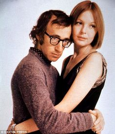 The odd couple: Diane Keaton - the little-known actress from California - and Woody Allen in 1972