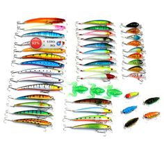 Cheap lure rig, Buy Quality lure game directly from China lure bait Suppliers: 45 Pcs/Pack Mixed 6 Style Fishing Lures Set Minnow/ Crankbait /Soft Frog / Cicada Insect Lure Artificial Bait Fishing Tackle Frog Fishing Lure, Carp Fishing Tackle, Catfish Fishing, Fishing Bait, Saltwater Fishing, Grass Carp, Sea Shark, Bass Bait, Soft Lure