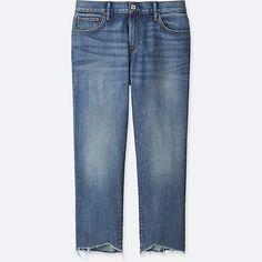 WOMEN Slim Boyfriend Fit Ankle Jeans