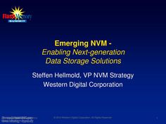 #EmergingNVM - Enabling Next-Generation #DataStorageSolutions, #Electronics