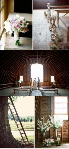 love the ideas of simple benches for the ceremony  @Megan Moss