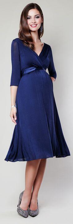 b56af95a85d Unser Kleid Willow in mitternachtsblau Umstandskleid Festlich
