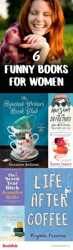 6 funny books to read for women. These books would be great ideas for book clubs, too!