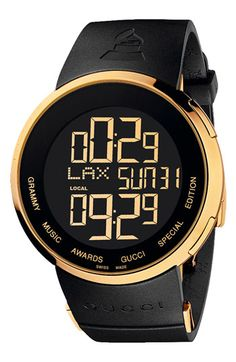 "Gucci ""Special Edition Grammy"" Digital Watch. This is awesome for that special guy in your life ;)"