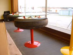 Old tires: a source of inspiration and imagination - IDEAS Aquarius