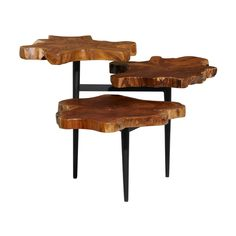 Rustic Accent Table, Wood Accents, Inspired Homes, Teak Wood, Rustic Design, Wood Table, Wood And Metal, Living Spaces, Tripod