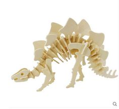 3D Wooden Puzzle Dinosaur-Stegosaurus