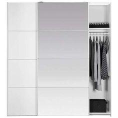 Schuifdeurkast Verona - wit/spiegel - 200x182x64 cm Verona, Wardrobe Rack, Cribs, New Homes, Stuff To Buy, Furniture, Home Decor, Products, Cots