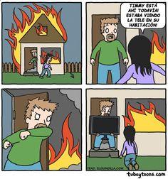 Humor negro en el incendio. #humor #risa #graciosas #chistosas #divertidas