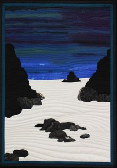 """""""Permanence and Impermanence"""" by Karen Brown.  2014 Canberra Quilters Guild exhibition (Australia)."""