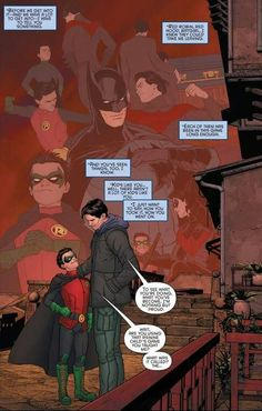 Dick Grayson and Damian Wayne moment
