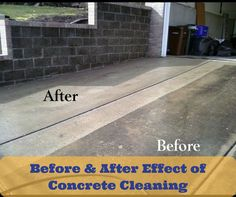 Just look at the effect of #concrete #cleaning services. It is a mandatory thing to keep your concrete undamaged.