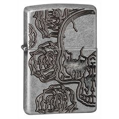 Zippo Skull and Roses Windproof Lighter