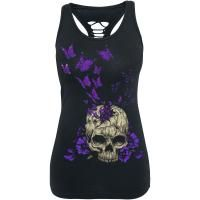 Butterfly Skull - Girls Top by Full Volume by EMP - Article Number: 282142 - from 19.99 € - EMP Merchandising ::: The Heavy Metal Mailorder ::: Merchandise Shirts and More