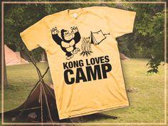 Shirt Kong: Kong loves #SUMMER #CAMPS. #screenprinting #tshirt