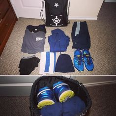Gym essentials - 3x shirts - 1x Hoodie - 1x shorts - 1x compression undies - 1x towelette - 1x beanie - 1x shoes