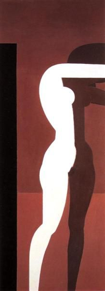 Nude by Yiannis Moralis (Greek Art And Illustration, Modern Art, Contemporary Art, Greek Paintings, Figurative Kunst, Ecole Art, Street Art, Art Abstrait, Figure Painting