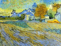 View of the Church of Saint-Paul-de-Mausole Vincent van Gogh, 1889