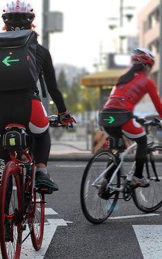 Hey, Cyclists: This LED-Powered Backpack Could Save Your Life   Co.Design   business + design