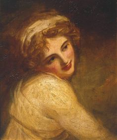 George Romney, Portrait of Emma Hart, later Lady Hamilton, possibly as a Figure in 'Fortune Telling', c. 1782-84, Oil on canvas, 49.5 x 40 cm (Tate); 19th-c. prints at NPG