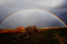 A rainbow stretches over the barn at Rugged Horizon.  (c) Rugged Horizon Enterprises, LLC  #ruggedhorizon #barnevents