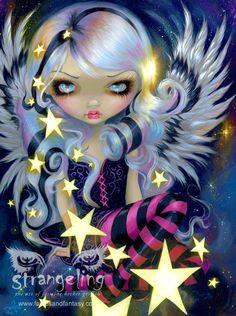 Lámina - Ángel de la luz de las estrellas por Jasmine Becket-Griffith