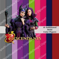 The Descendants Digital Paper Pack 30 by DigitalStudioDesigns