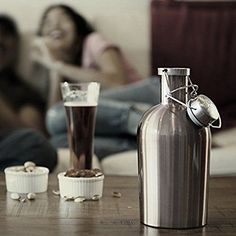 Beer Growler 64oz Swing Top Hip Flask Ultimate Growler 19L Botella Bottle >>> You can get more details by clicking on the image.
