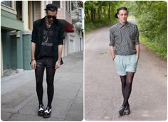 Young Fashion, Look Fashion, High Fashion, Emporio Armani, Unisex Fashion, Mens Fashion, Mens Leotard, Men Wearing Skirts, Fashion Week Hommes