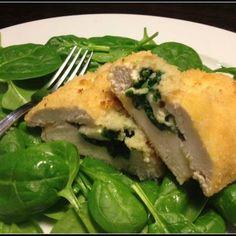 #Spinach and #Mozzarella stuffed #chicken recipe
