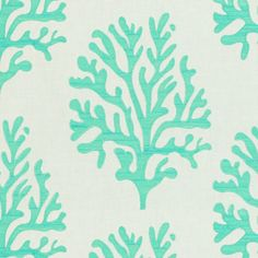 """2011116 - 13  SEAFAN - SEAFOAM  Upholstery  White  Light Blue  Embroidery  Lilly Pulitzer  Lee Jofa  44% LINEN 38% COTTON 18% RAYON   53"""" (134.6 cm) Width  26"""" (66.0 cm) Vertical Repeat  17.6"""" (44.7 cm) Horizontal Repeat  India  Exclusive  Sold by the YARD"""