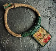 Crochet Necklace, Bohemian, Embroidery, Etsy, Shopping, Jewelry, Fashion, Moda, Needlepoint
