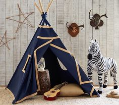 Indigo Mini Teepee | Pottery Barn Kids