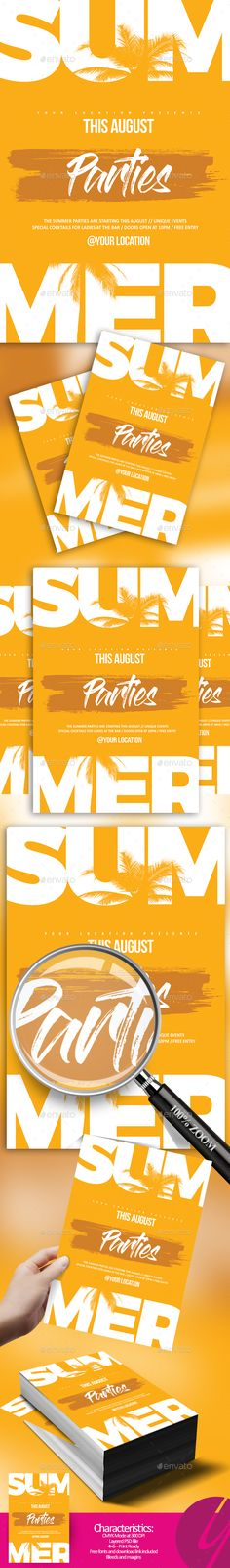 Minimalistic Summer #Flyer - Clubs & Parties Events Download here: https://graphicriver.net/item/minimalistic-summer-flyer/20158210?ref=alena994