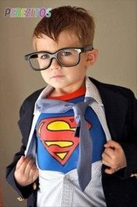 Clark Kent kid halloween costume. My kid will be adorable and will be doing this.
