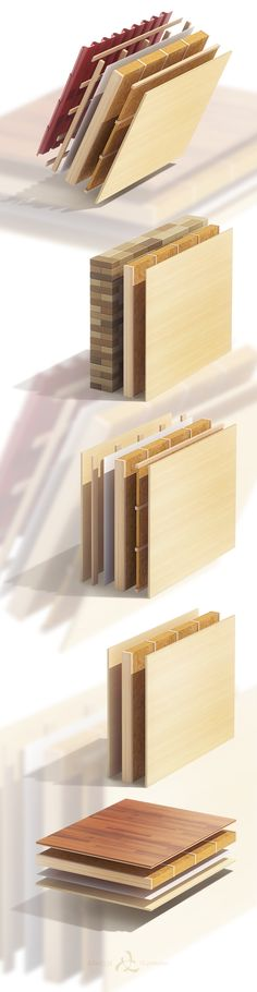 Wood-frame construction on Behance